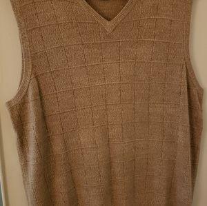 Dockers tan vest large sweater